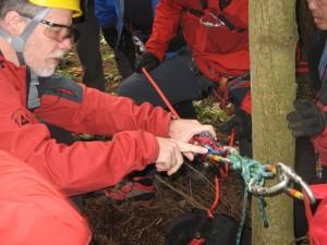 Couitlam SAR rope rescue practice