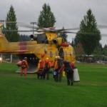 442 Loading Coquitlam SAR members at Town Centre