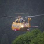 CH-109 Cormorant at Debeck Creek unloading SAR members