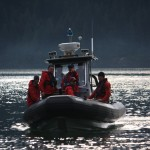RCMP Boat transporting Coquitlam SAR members on debeck task