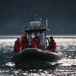 RCMP Boat transporting Coquitlam SAR members on debeck task
