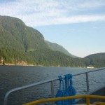 View south down Indian Arm showing