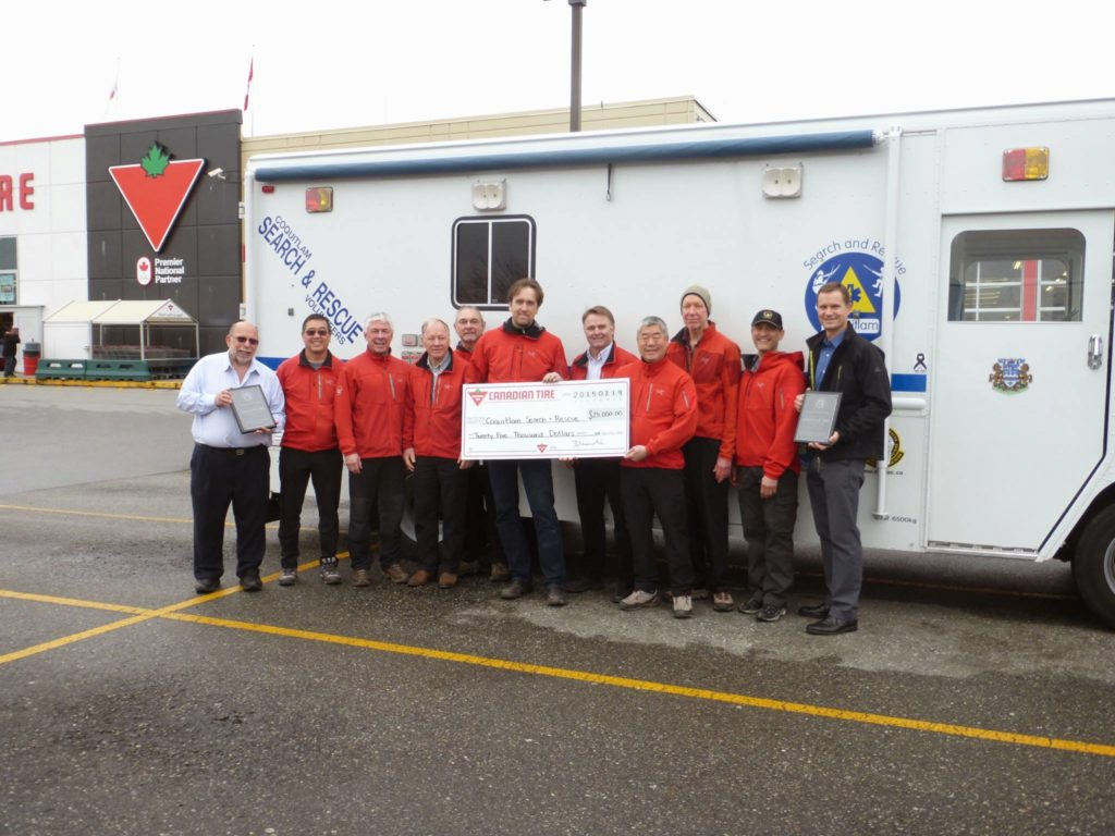 Coquitlam and Port Coquitlam Canadian Tire contributed $35,000