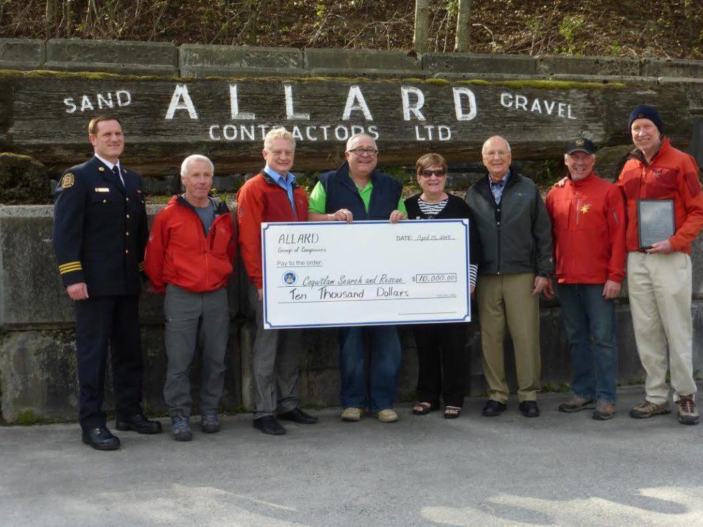 Allard Contractors contributed $10,000