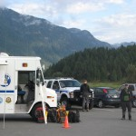 At a search on Pitt Lake