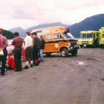 Previous Command Truck (orange van) from 1980s