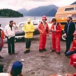 Previous Command Truck (orange van) from 1980s