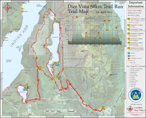 Diez Vistas Trail Map by www.mapmakers.ca