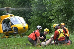 Long Line Rescue of Injured Hiker