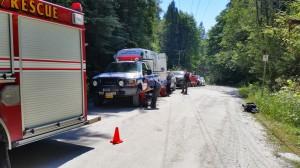 Stretcher transport on Munro Lake Trail