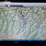 Satellite tracking showing teams on Indian Arm and upper Pitt River