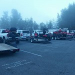 ATVs getting ready for transport