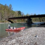 At the first bridge on the Pitt River