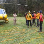 The line is laid out and the rescue team is briefed