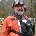 Kevin Young, 20 year veteran of the team, is helicopter landing zone coordinator