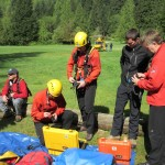 Rescuers getting ready