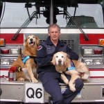 Flynn Lamont with dogs Barkley and Cooper