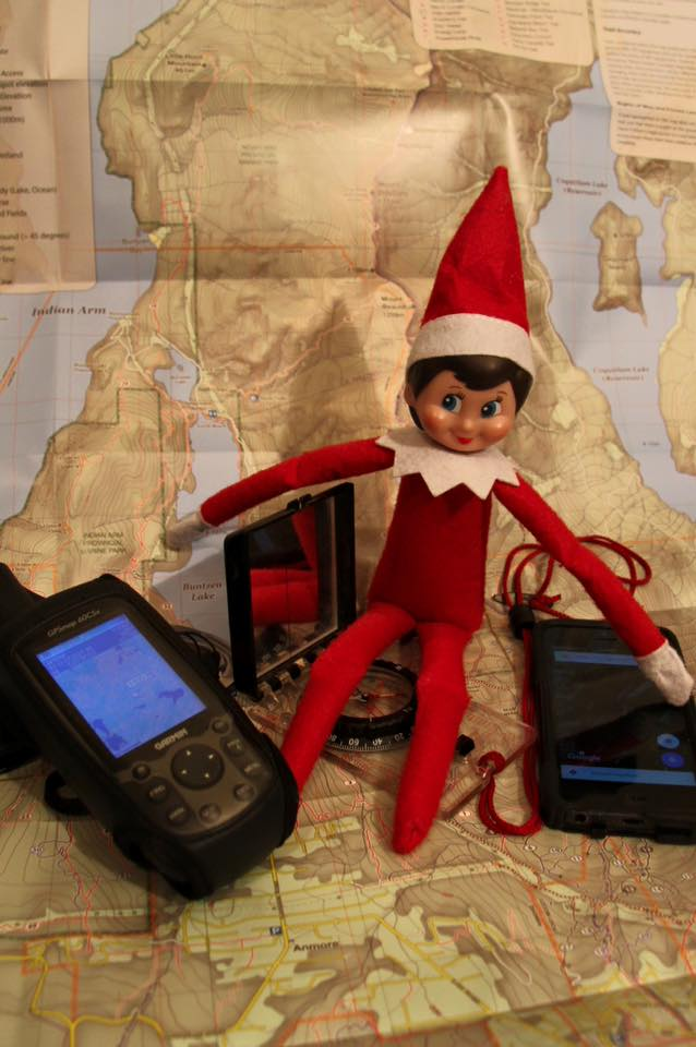 Prusik loves his GPS and even uses his smartphone map around town, but an elf always carries a map & compass as a battery free backup. Learning how to read a map is an important skill that has kept many an elf from getting lost. #SARelf #10essentials