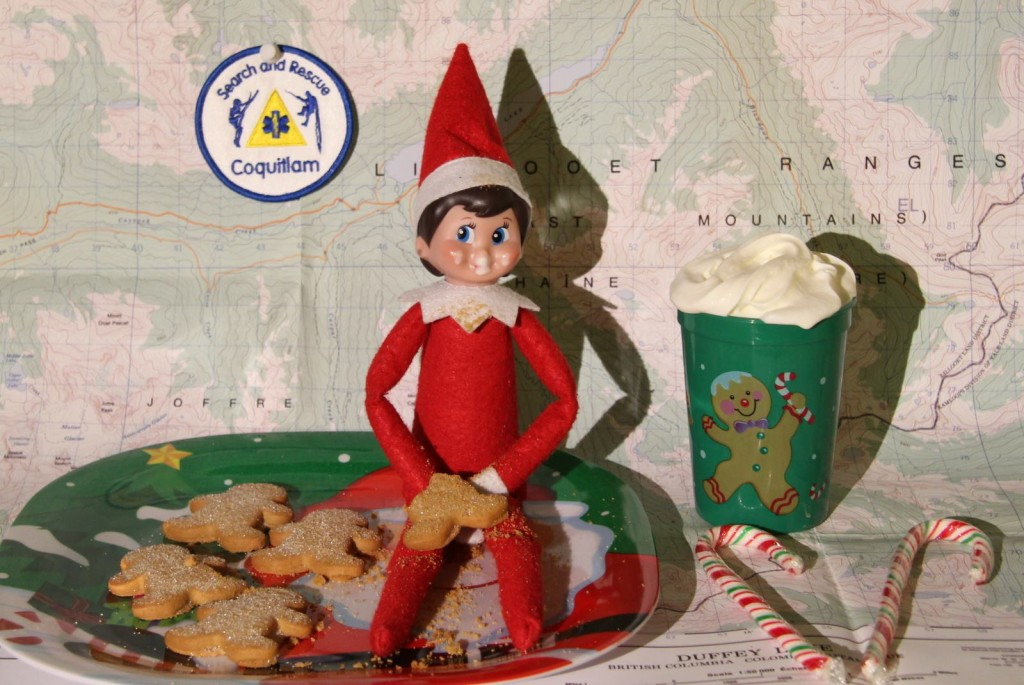 Elves can subsist on hot chocolate and candy canes. But you should carry extra food and water. #SARelf #10essentials