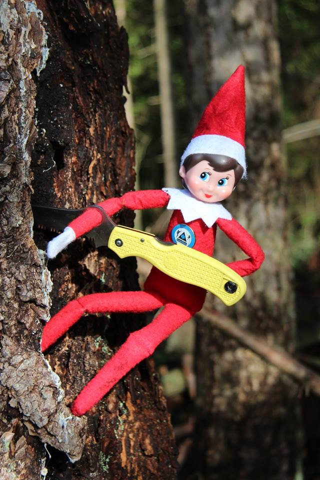 Once an elf is old enough to use one safely, an elf always carries a knife. It has 1 million +1 uses! #SARelf #10essentials