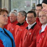 Christy Clark and Sandy Burpee