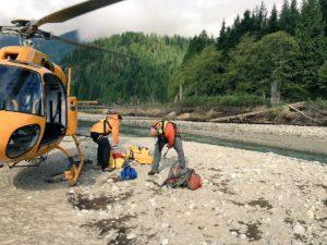 Rigging for rescue on Eagle Ridge. Photo Credit: Kelsey Wheeler