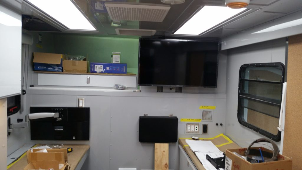 Data display in operations room