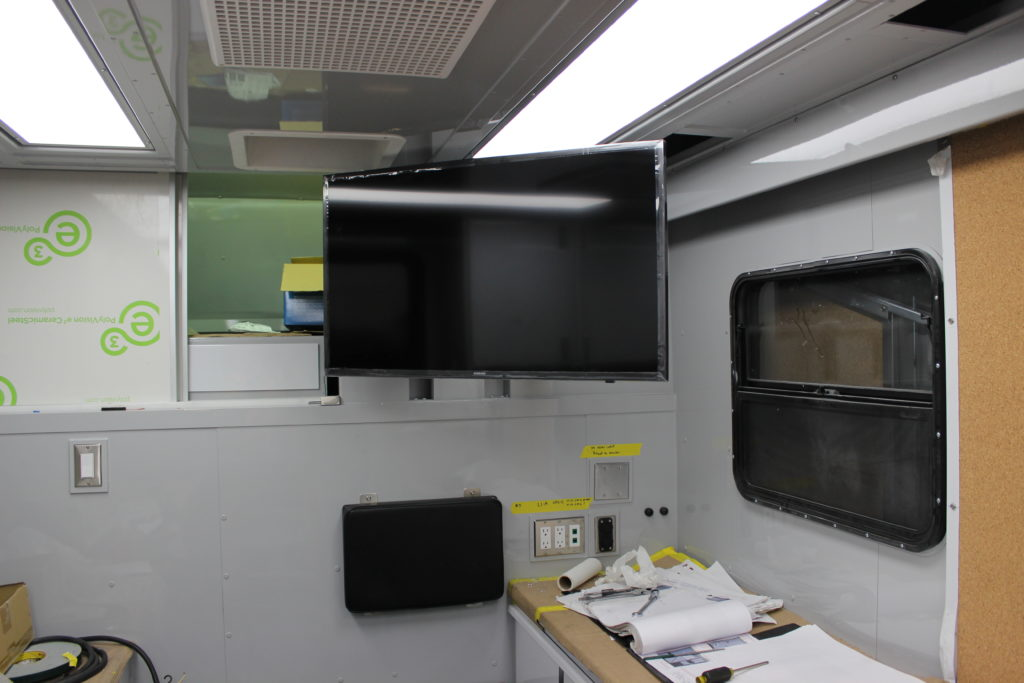 Data display in operations area